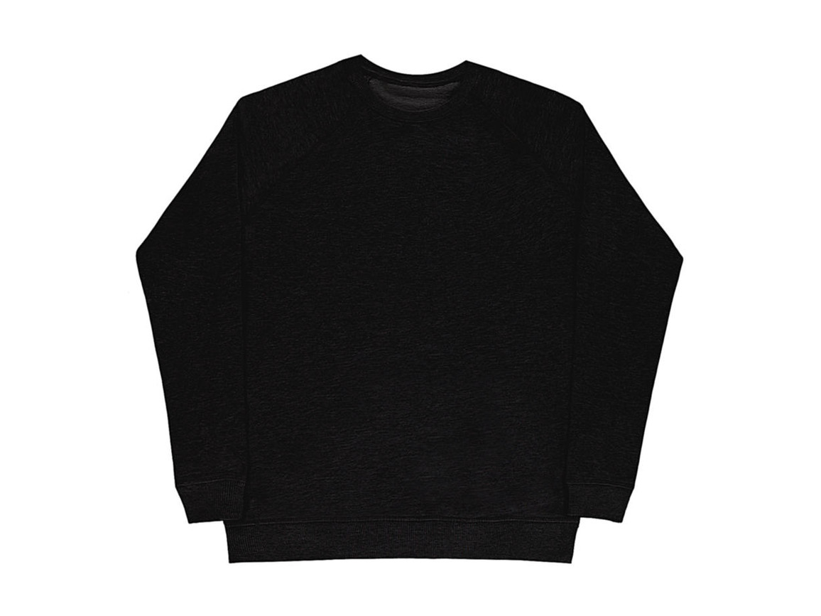 nakedshirt Clément Men`s Raglan Sweat, Black, 3XL bedrucken, Art.-Nr. 205851018