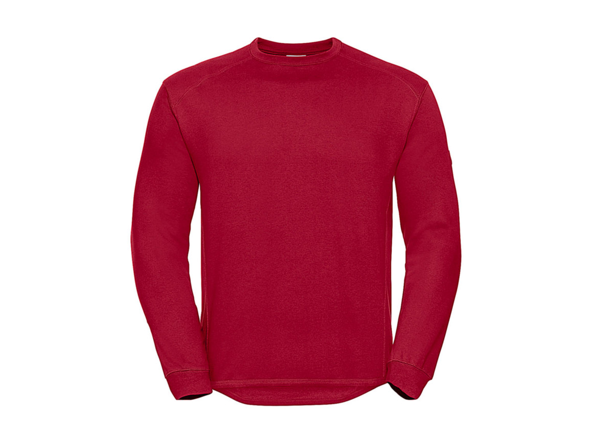 Russell Europe Workwear Set-In Sweatshirt, Classic Red, XS bedrucken, Art.-Nr. 213004012