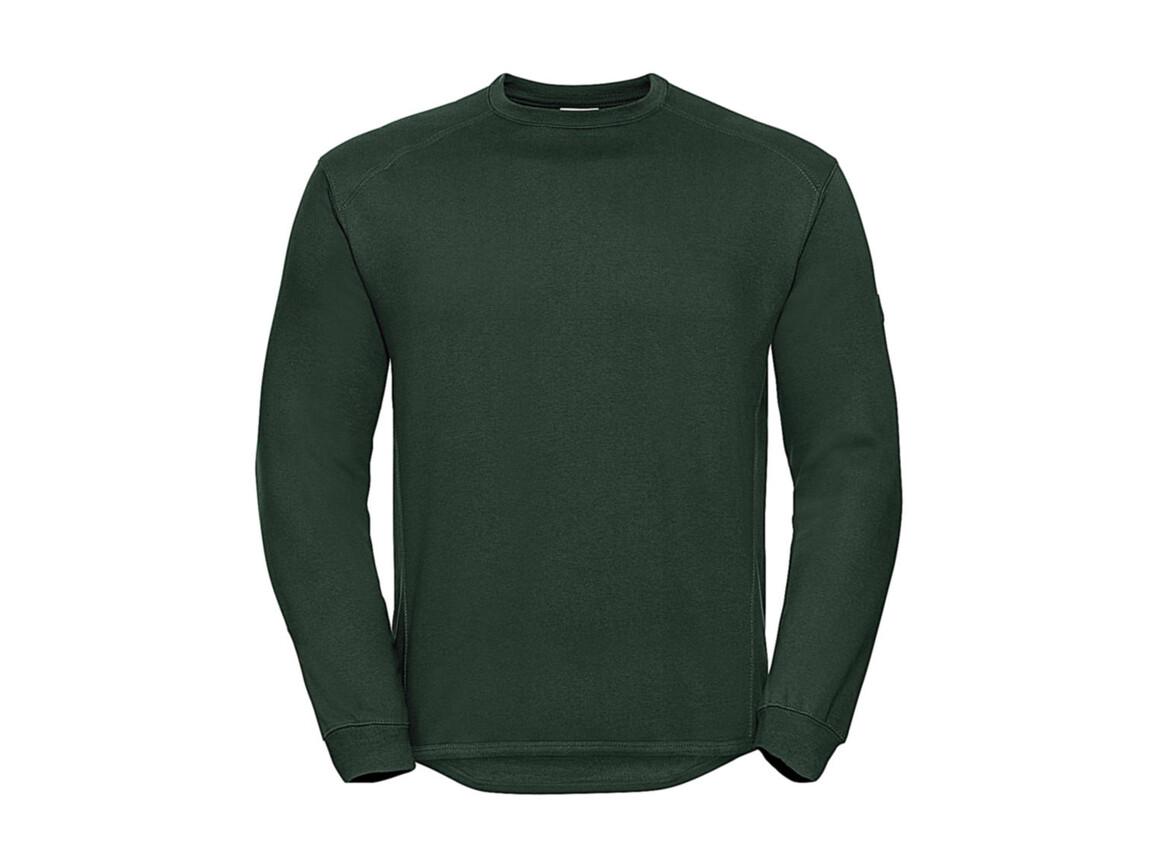 Russell Europe Workwear Set-In Sweatshirt, Bottle Green, S bedrucken, Art.-Nr. 213005403