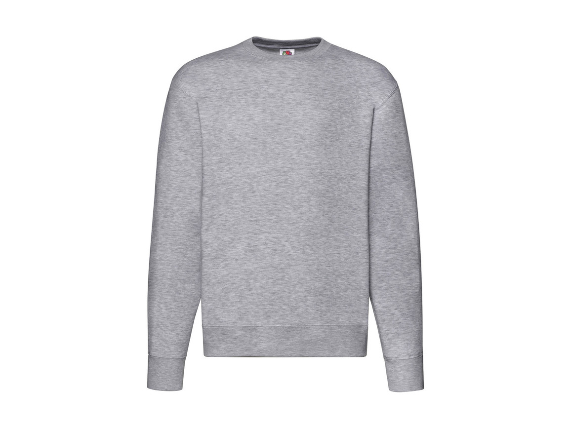 Fruit of the Loom Premium Set In Sweat, Heather Grey, L bedrucken, Art.-Nr. 215011235