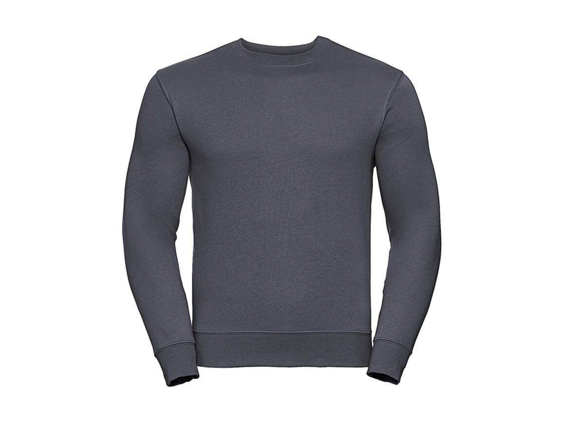 Russell Europe Authentic Set-In Sweatshirt, Convoy Grey, L bedrucken, Art.-Nr. 216001275