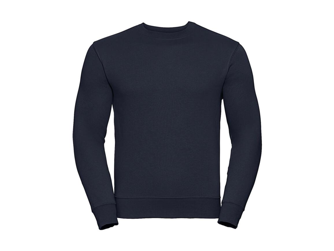 Russell Europe Authentic Set-In Sweatshirt, French Navy, S bedrucken, Art.-Nr. 216002013