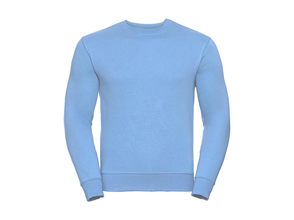 Russell Europe Authentic Set-In Sweatshirt, Sky, XL bedrucken, Art.-Nr. 216003206
