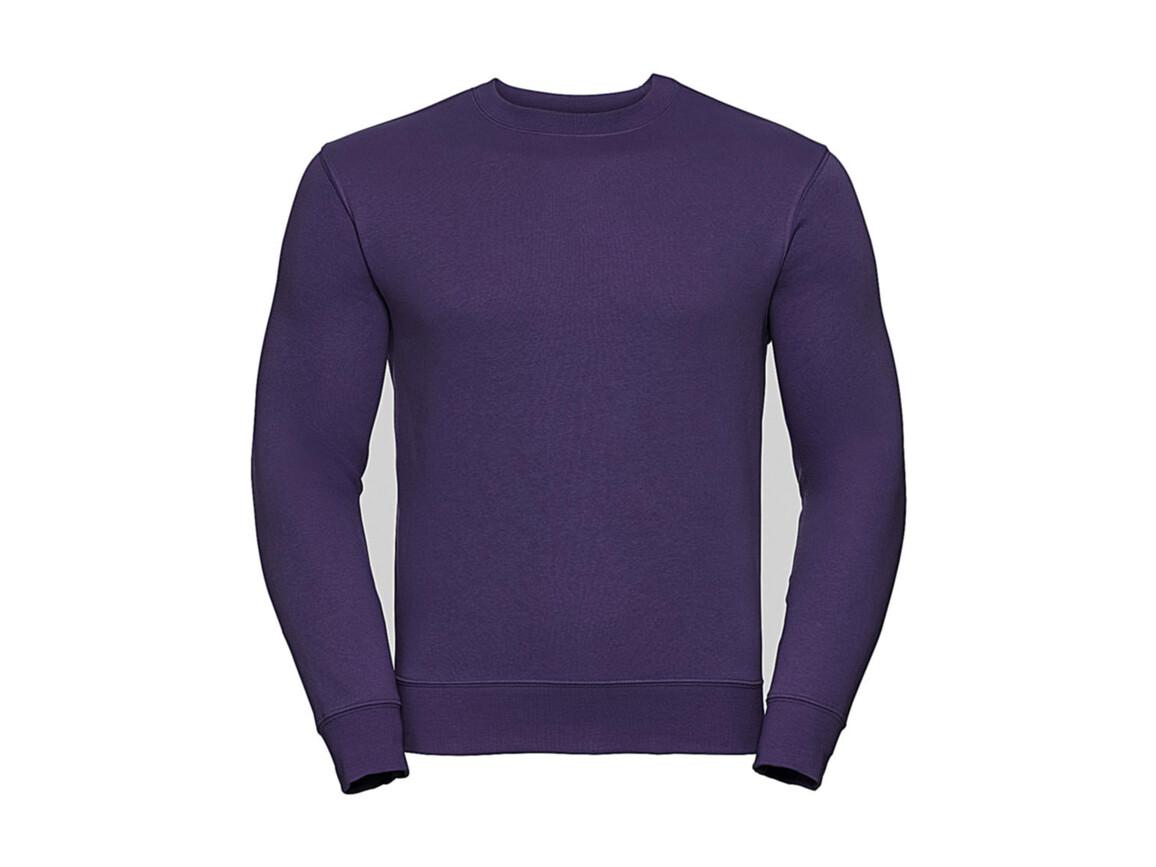 Russell Europe Authentic Set-In Sweatshirt, Purple, 2XL bedrucken, Art.-Nr. 216003497