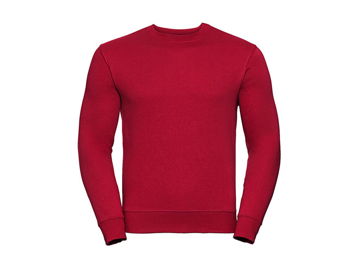 Russell Europe Authentic Set-In Sweatshirt, Classic Red, S bedrucken, Art.-Nr. 216004013