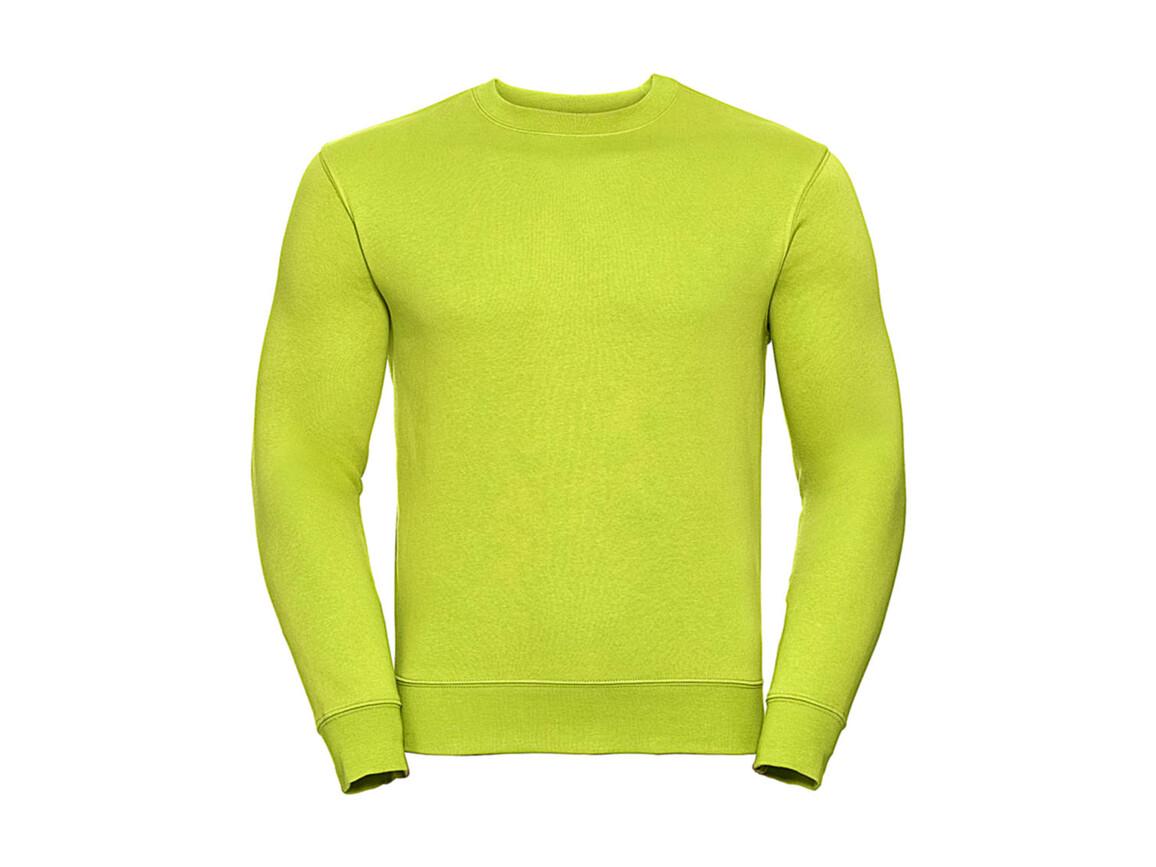 Russell Europe Authentic Set-In Sweatshirt, Lime, 2XL bedrucken, Art.-Nr. 216005217