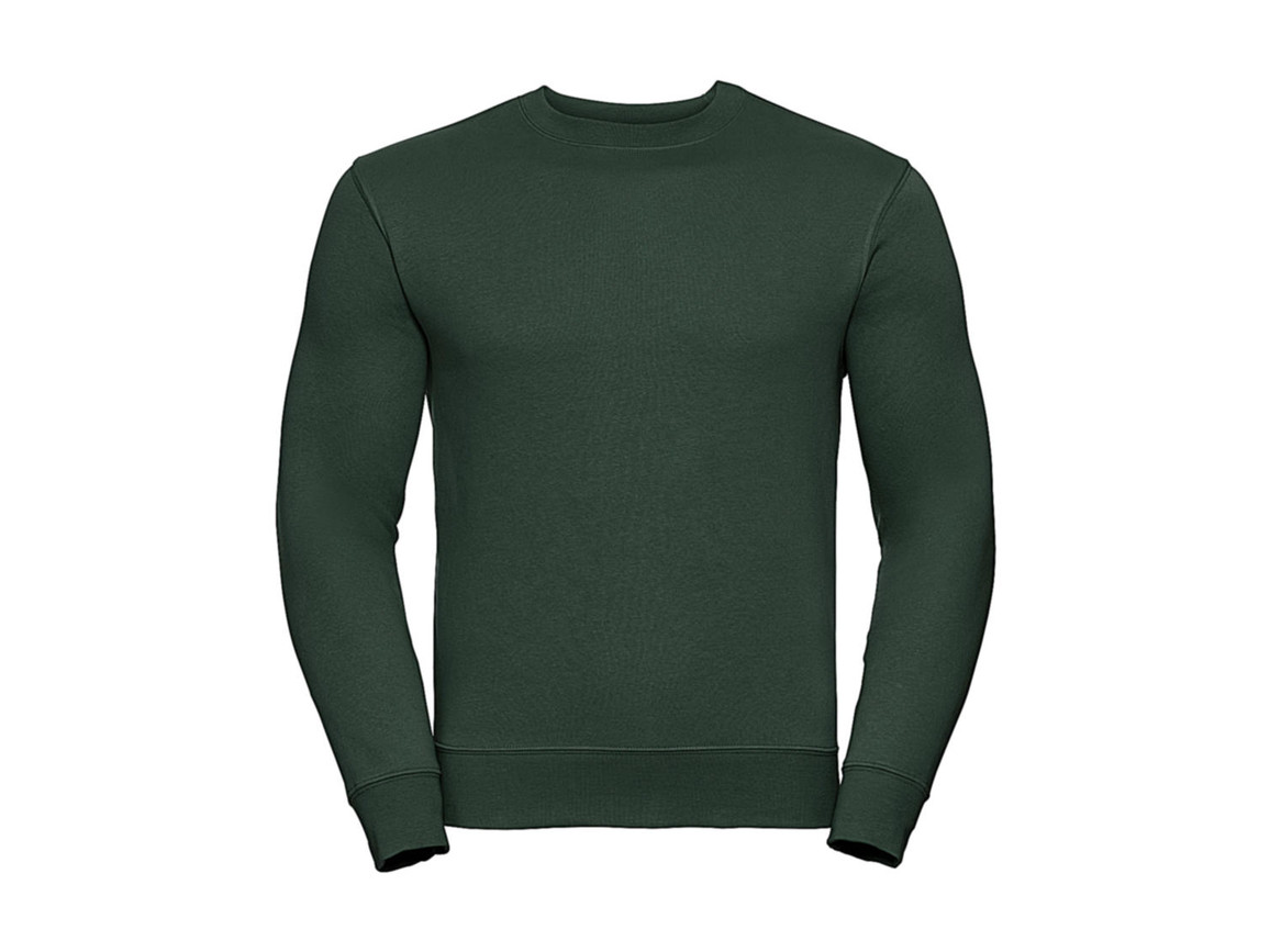 Russell Europe Authentic Set-In Sweatshirt, Bottle Green, M bedrucken, Art.-Nr. 216005404