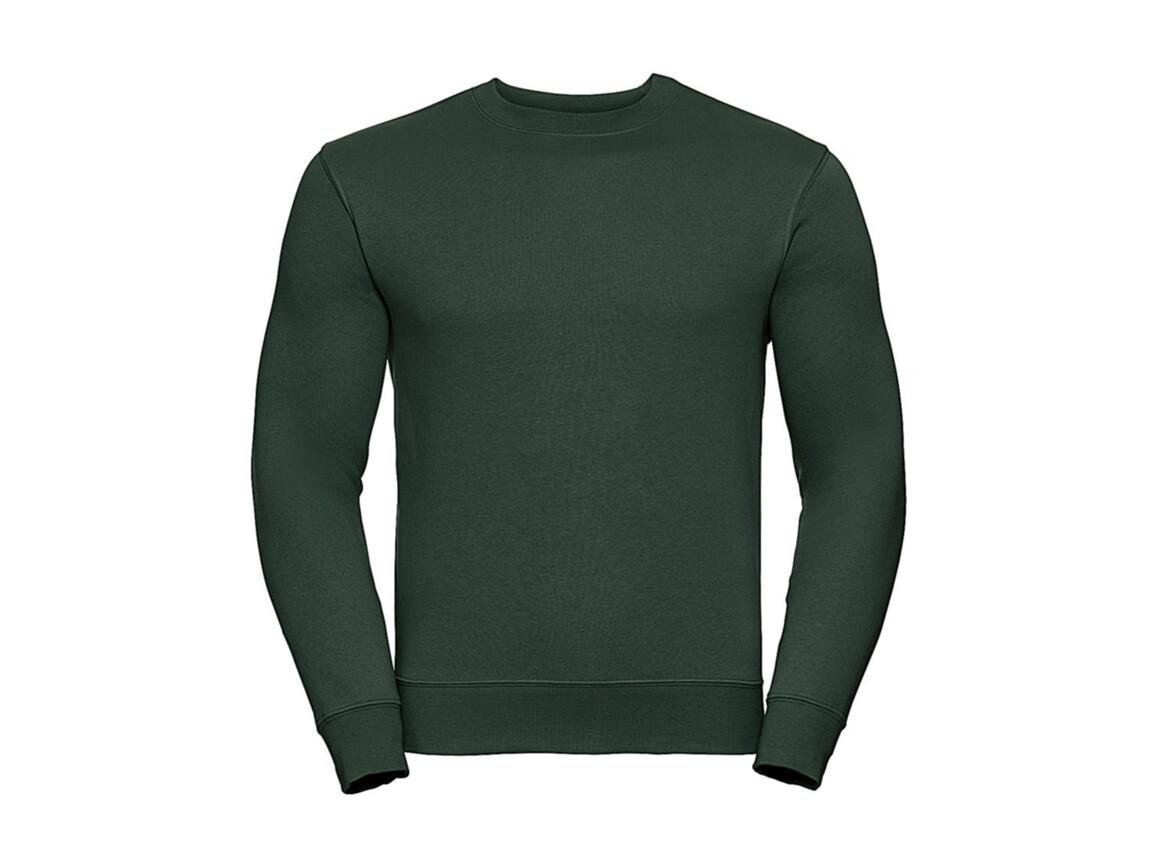 Russell Europe Authentic Set-In Sweatshirt, Bottle Green, M bedrucken, Art.-Nr. 216005404