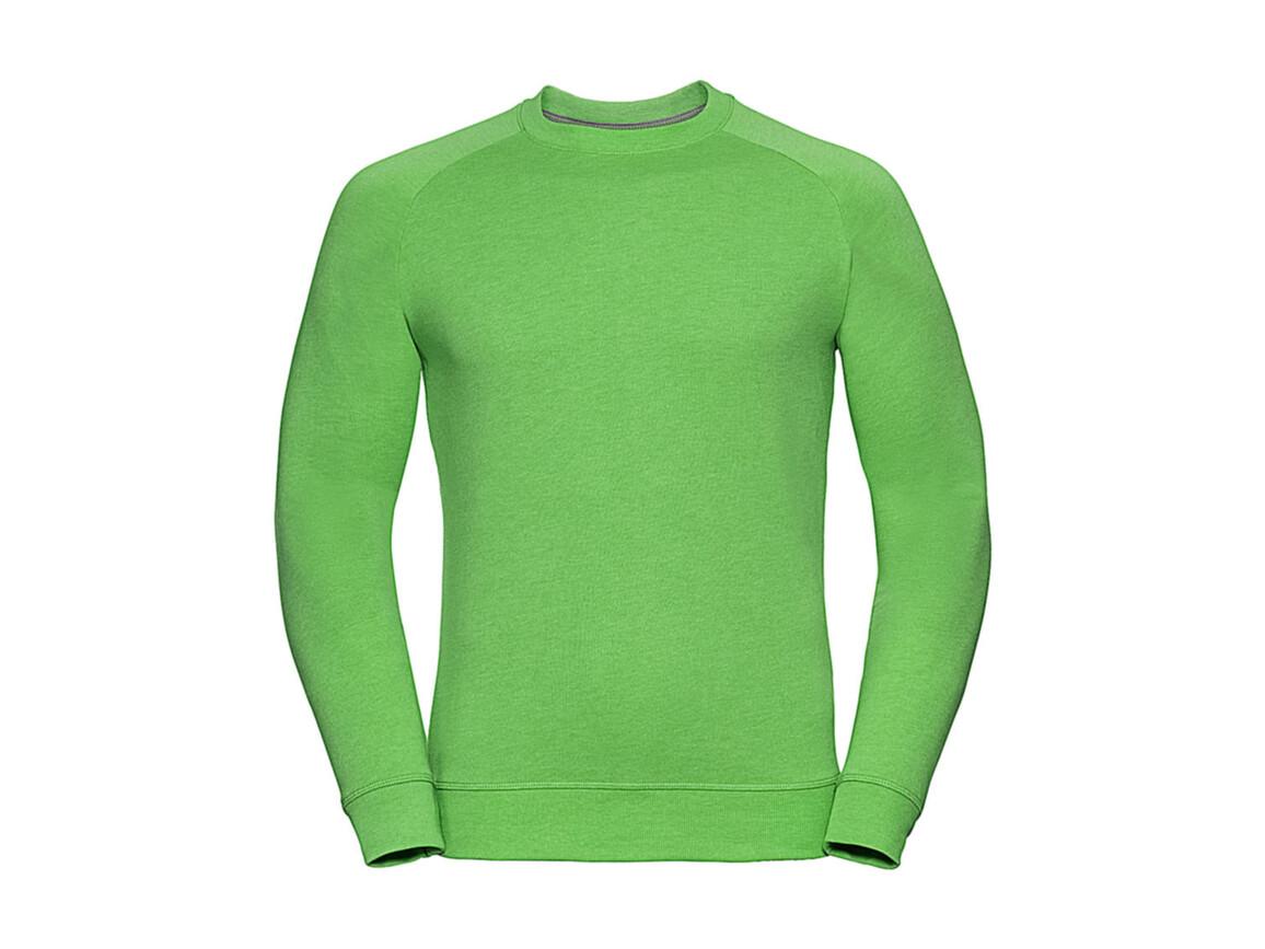 Russell Europe Men`s HD Raglan Sweat, Green Marl, 2XL bedrucken, Art.-Nr. 221005157