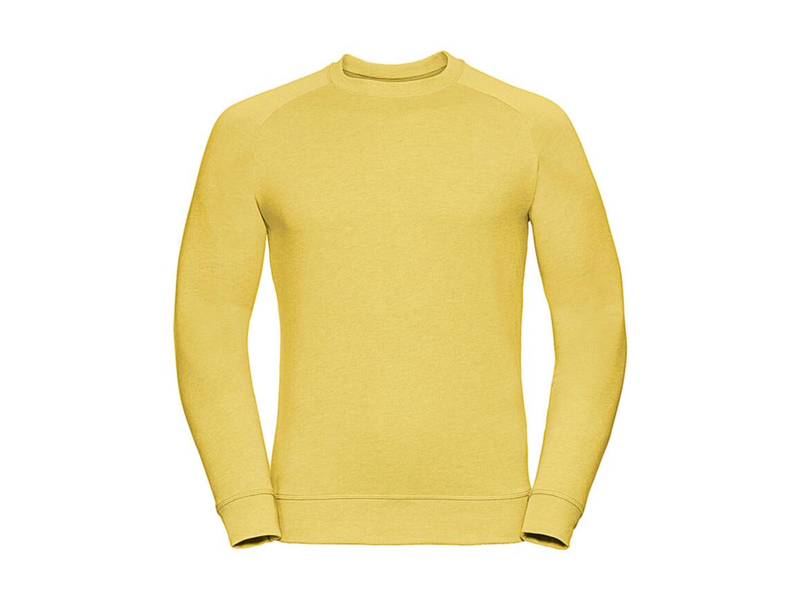 Russell Europe Men`s HD Raglan Sweat, Yellow Marl, S bedrucken, Art.-Nr. 221006153