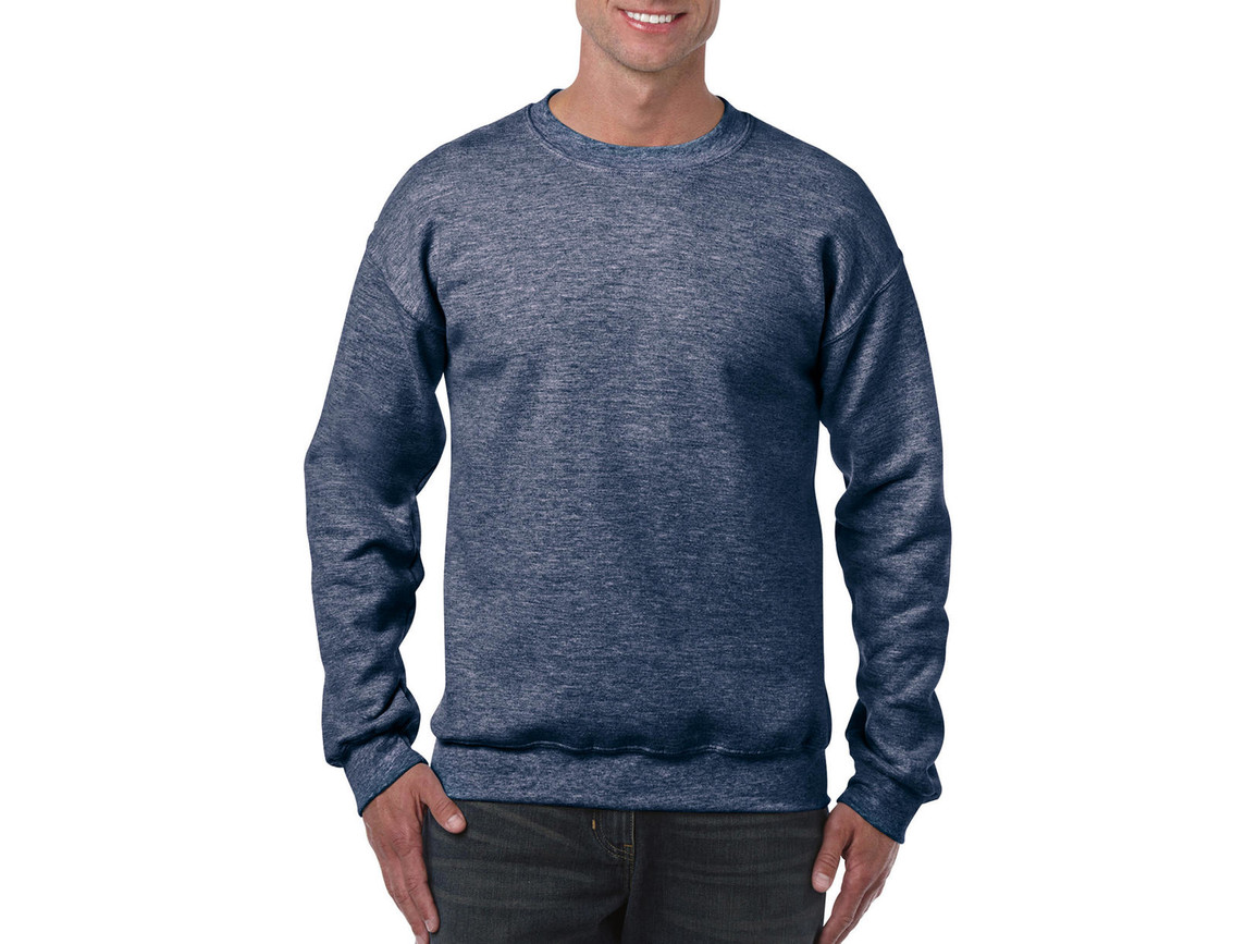 Gildan Heavy Blend Adult Crewneck Sweat, Heather Sport Dark Navy, L bedrucken, Art.-Nr. 238092135