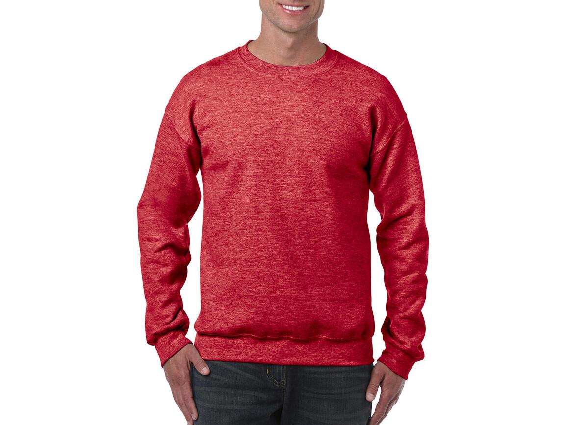 Gildan Heavy Blend Adult Crewneck Sweat, Heather Sport Scarlet Red, L bedrucken, Art.-Nr. 238094215