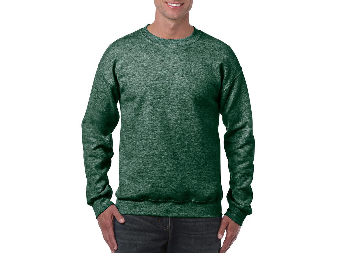 Gildan Heavy Blend Adult Crewneck Sweat, Heather Sport Dark Green, XL bedrucken, Art.-Nr. 238095036