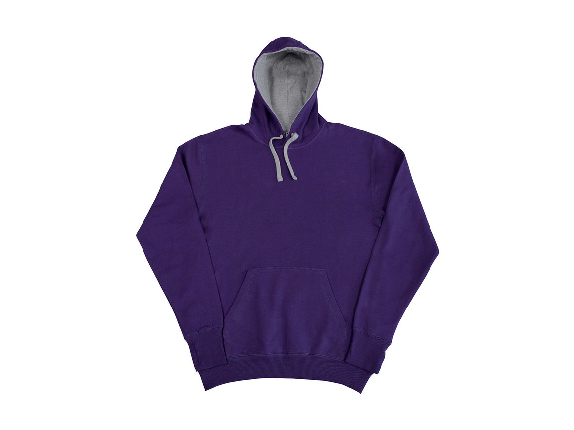 SG Contrast Hoodie, Purple/Light Oxford, 3XL bedrucken, Art.-Nr. 281523568