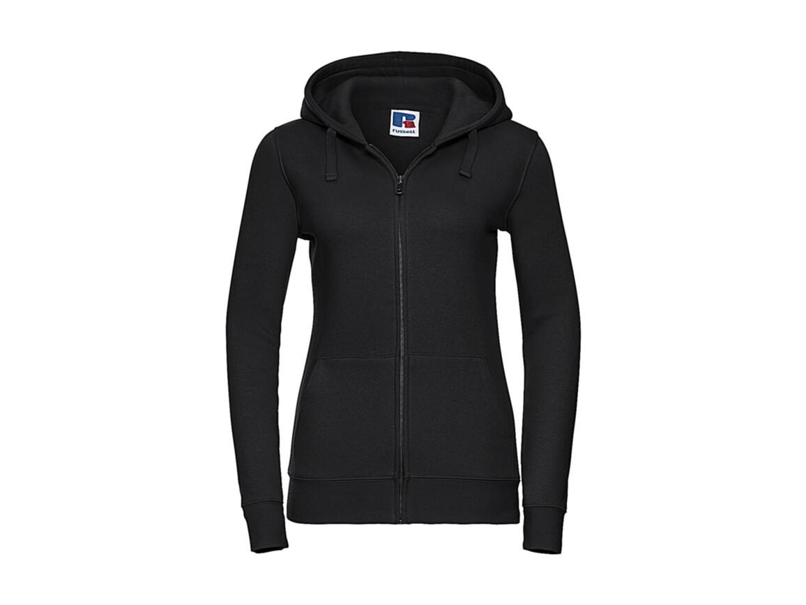 Russell Europe Ladies` Authentic Zipped Hood, Black, M bedrucken, Art.-Nr. 283001014