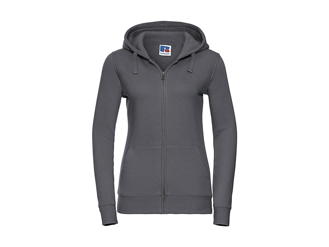 Russell Europe Ladies` Authentic Zipped Hood, Convoy Grey, L bedrucken, Art.-Nr. 283001275