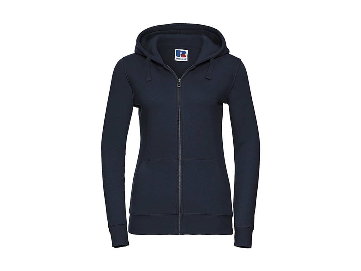 Russell Europe Ladies` Authentic Zipped Hood, French Navy, L bedrucken, Art.-Nr. 283002015