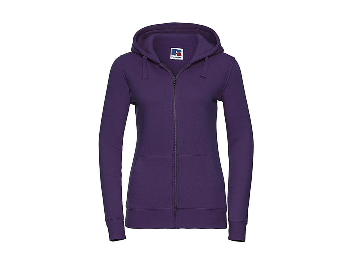 Russell Europe Ladies` Authentic Zipped Hood, Purple, M bedrucken, Art.-Nr. 283003494
