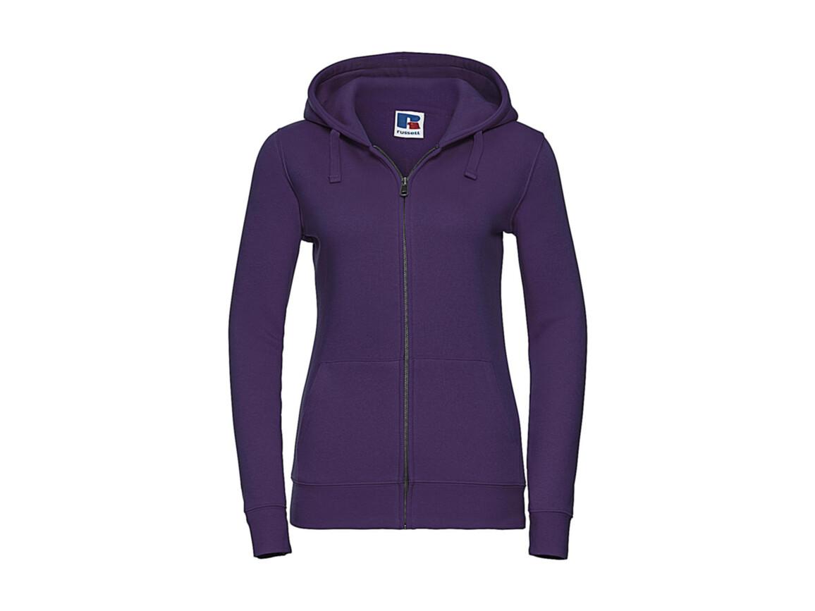 Russell Europe Ladies` Authentic Zipped Hood, Purple, XS bedrucken, Art.-Nr. 283003492