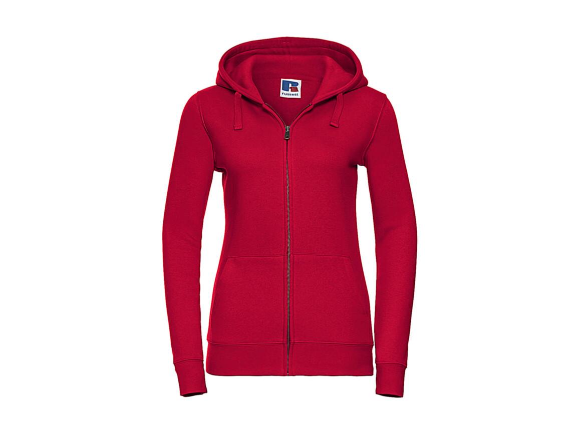 Russell Europe Ladies` Authentic Zipped Hood, Classic Red, XS bedrucken, Art.-Nr. 283004012