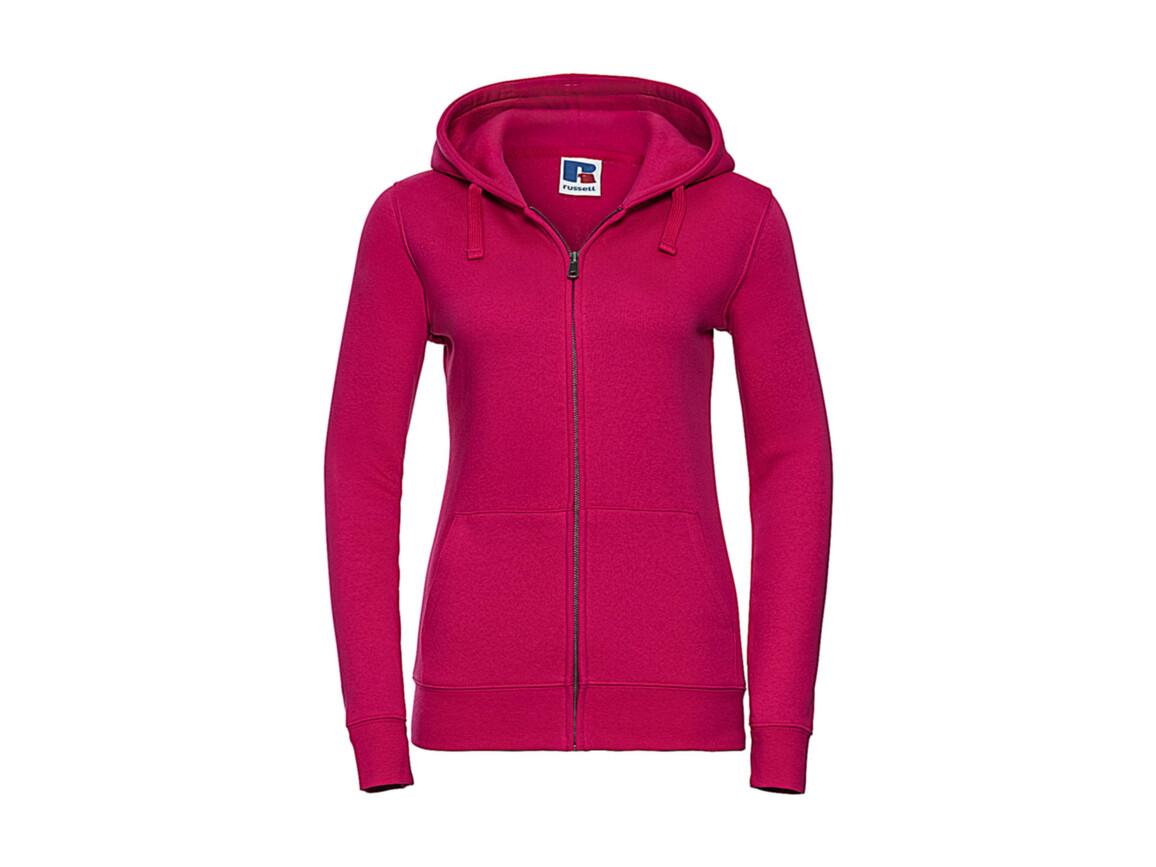 Russell Europe Ladies` Authentic Zipped Hood, Fuchsia, L bedrucken, Art.-Nr. 283004395
