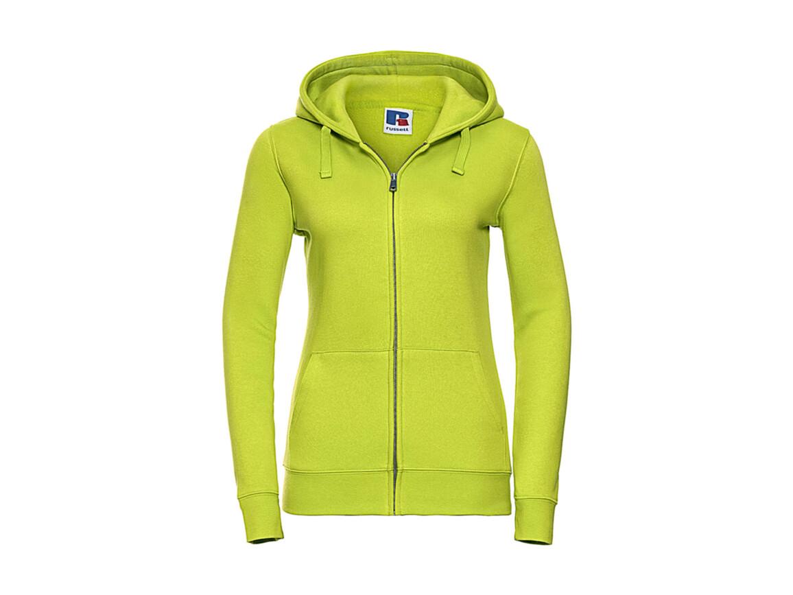 Russell Europe Ladies` Authentic Zipped Hood, Lime, M bedrucken, Art.-Nr. 283005214
