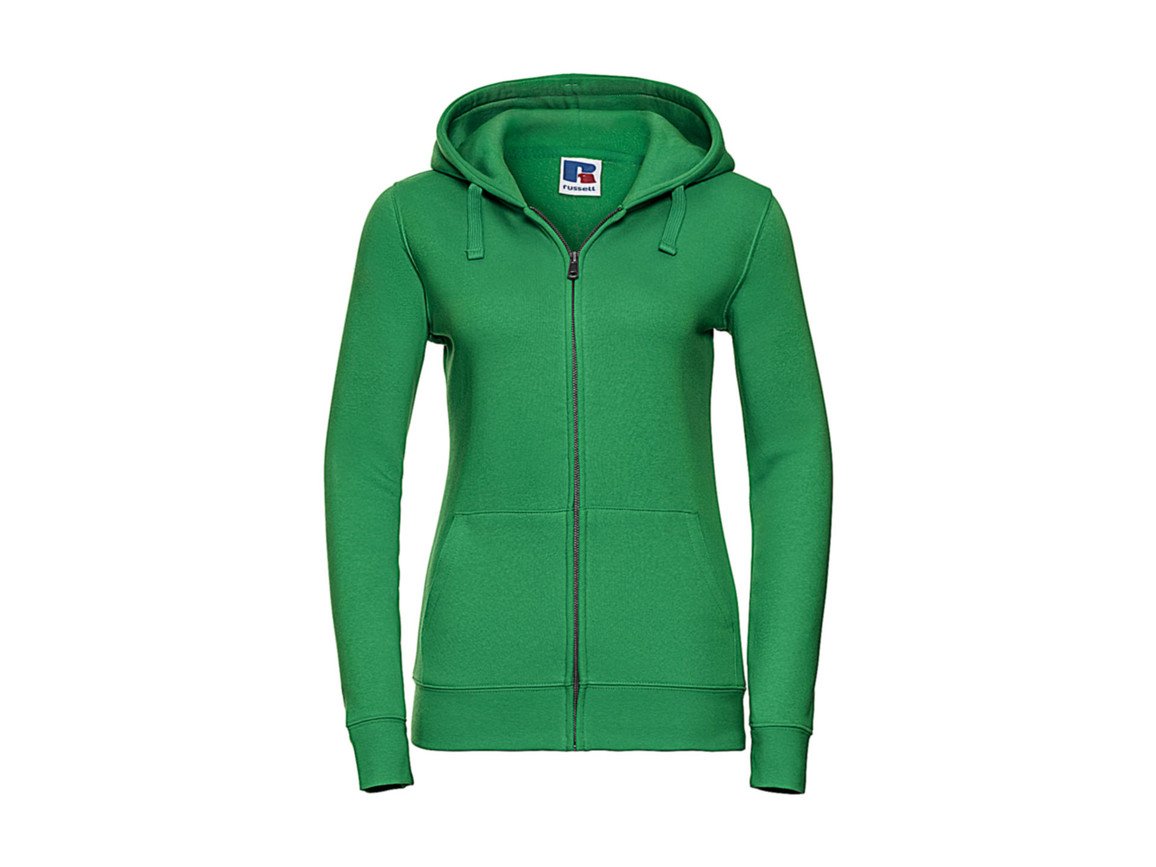 Russell Europe Ladies` Authentic Zipped Hood, Apple, L bedrucken, Art.-Nr. 283005225