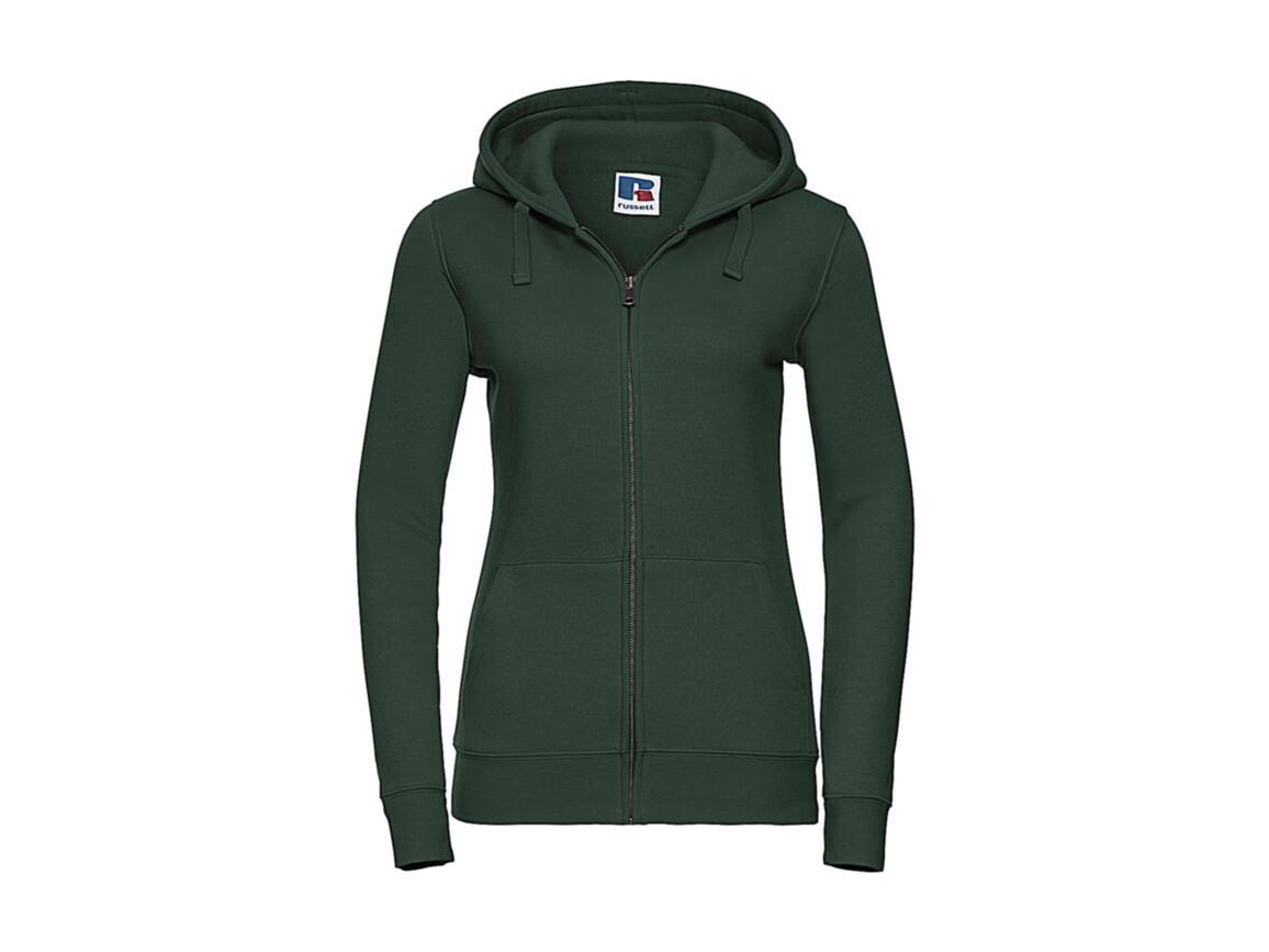 Russell Europe Ladies` Authentic Zipped Hood, Bottle Green, L bedrucken, Art.-Nr. 283005405