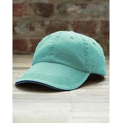 Anvil Sandwich Trim Pigment-Dyed Twill Cap bedrucken, Art.-Nr. 36608