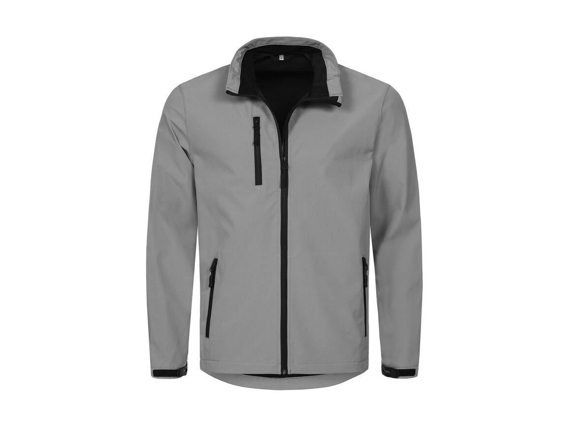 Stedman Active Softshell Jacket Men, Dolphin Grey, XL bedrucken, Art.-Nr. 402051246