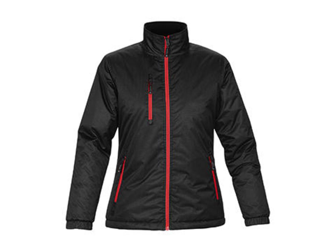 StormTech Ladies` Axis Jacket, Black/Sport Red, L bedrucken, Art.-Nr. 432181715