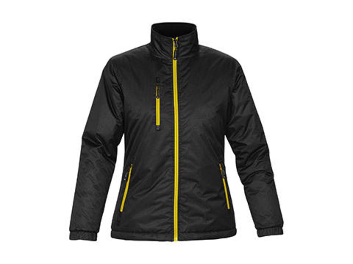 StormTech Ladies` Axis Jacket, Black/Sundance, 2XL bedrucken, Art.-Nr. 432181737