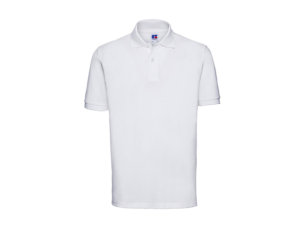 Russell Europe Men`s Classic Cotton Polo, White, S bedrucken, Art.-Nr. 549000003