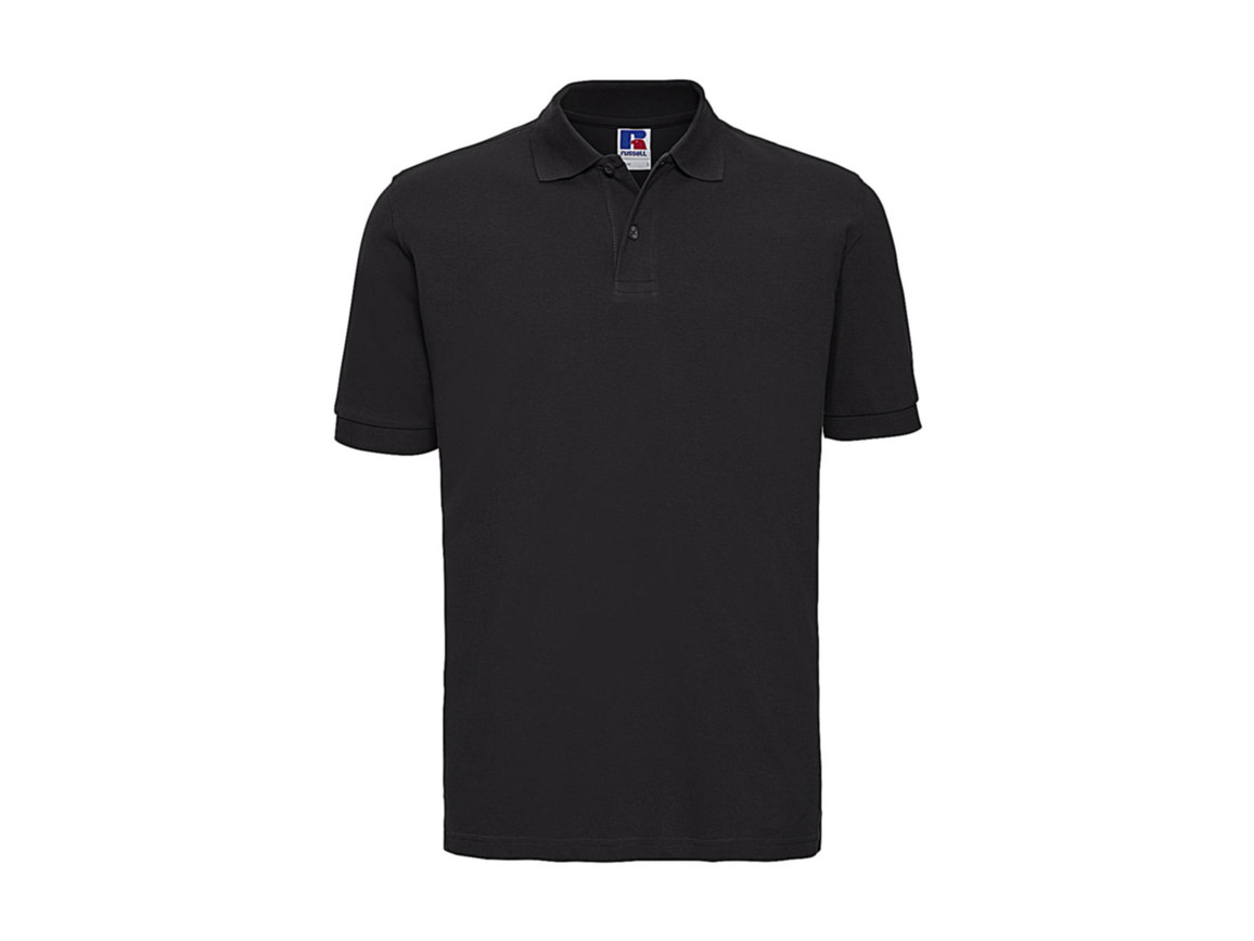 Russell Europe Men`s Classic Cotton Polo, Black, 2XL bedrucken, Art.-Nr. 549001017