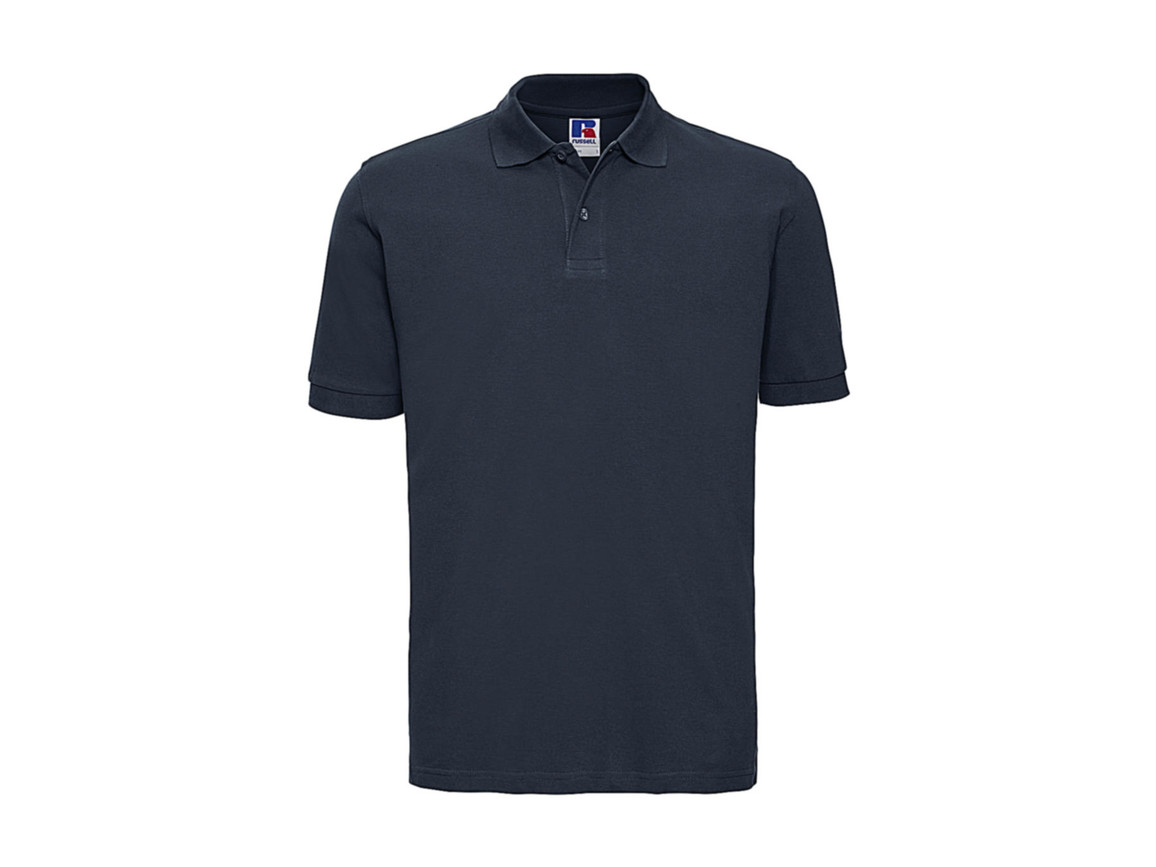 Russell Europe Men`s Classic Cotton Polo, French Navy, S bedrucken, Art.-Nr. 549002013
