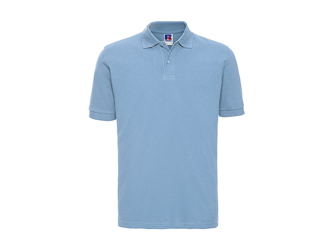 Russell Europe Men`s Classic Cotton Polo, Sky, S bedrucken, Art.-Nr. 549003203
