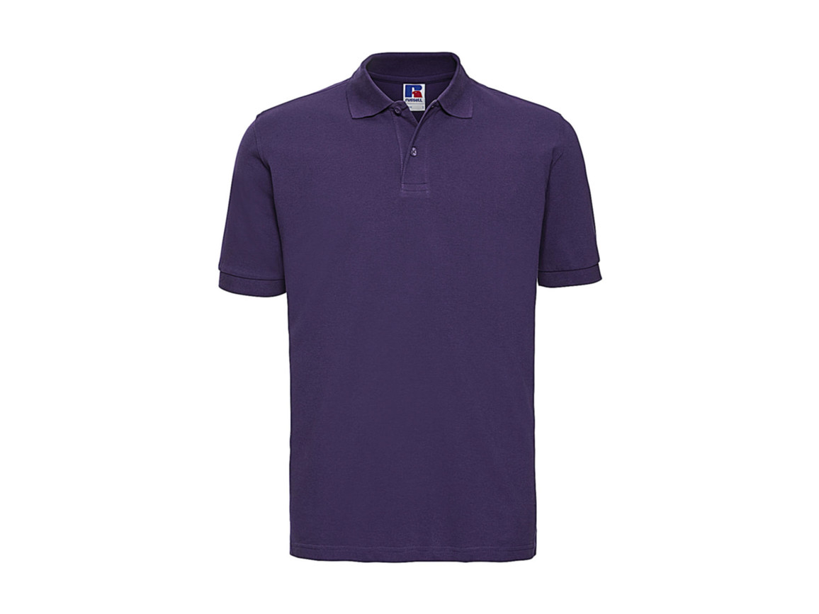 Russell Europe Men`s Classic Cotton Polo, Purple, S bedrucken, Art.-Nr. 549003493