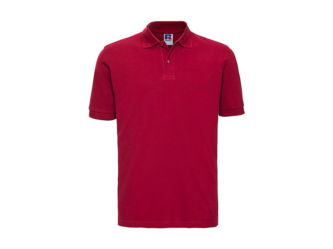 Russell Europe Men`s Classic Cotton Polo, Classic Red, S bedrucken, Art.-Nr. 549004013