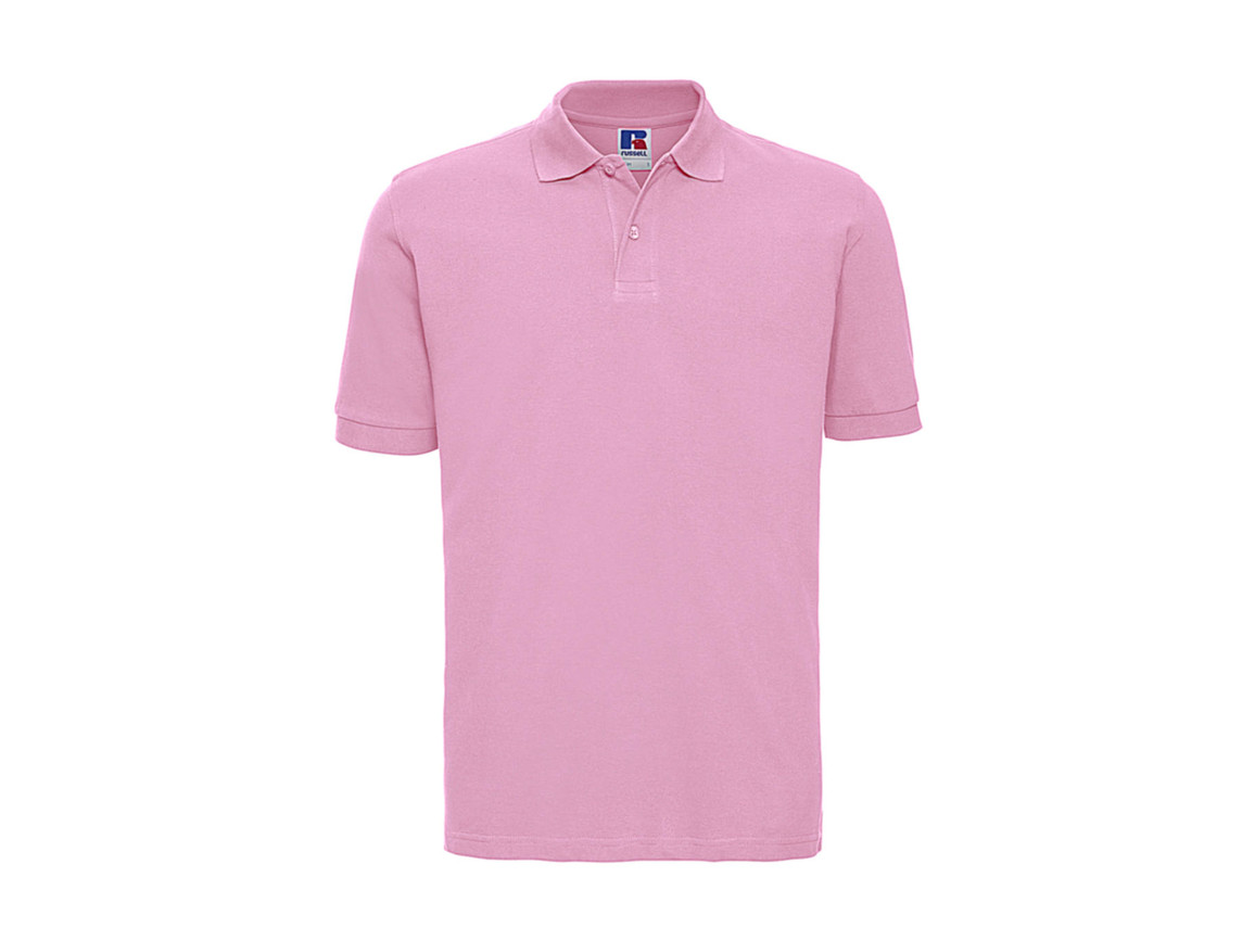Russell Europe Men`s Classic Cotton Polo, Candy Pink, S bedrucken, Art.-Nr. 549004223