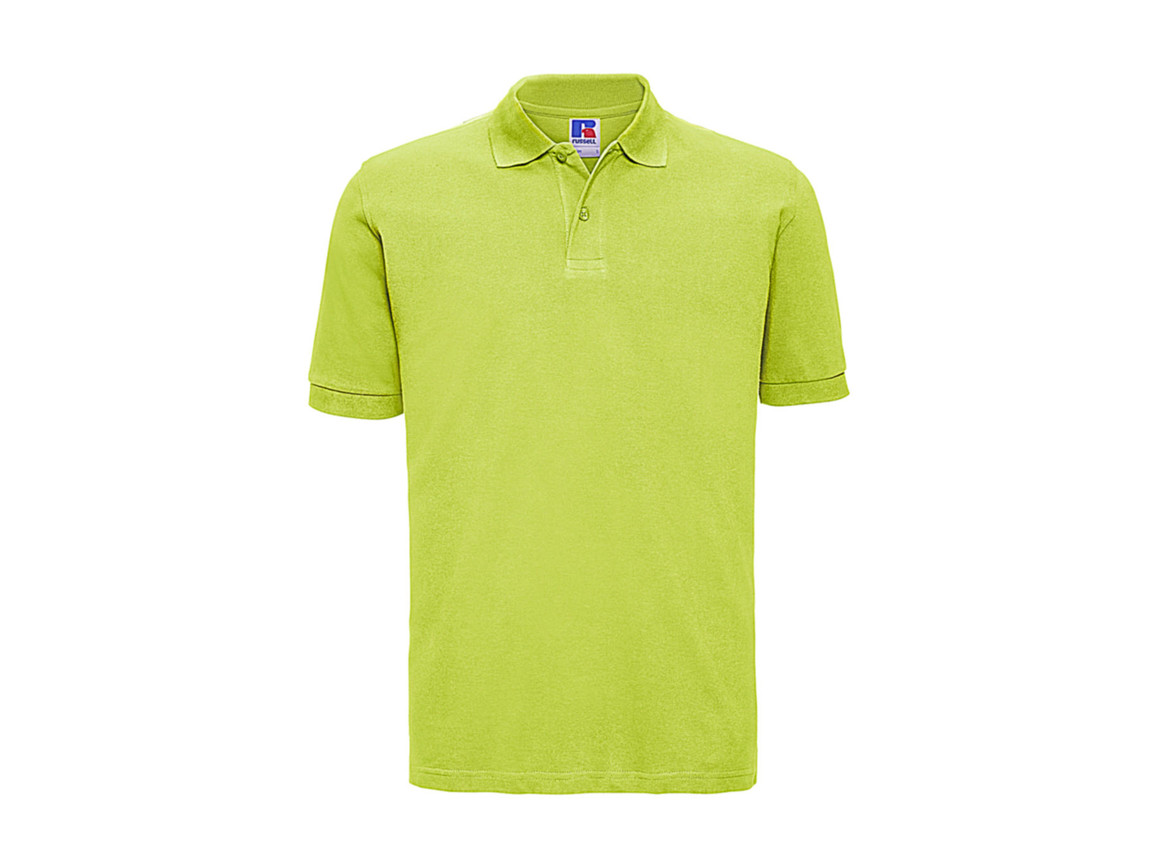 Russell Europe Men`s Classic Cotton Polo, Lime, S bedrucken, Art.-Nr. 549005213
