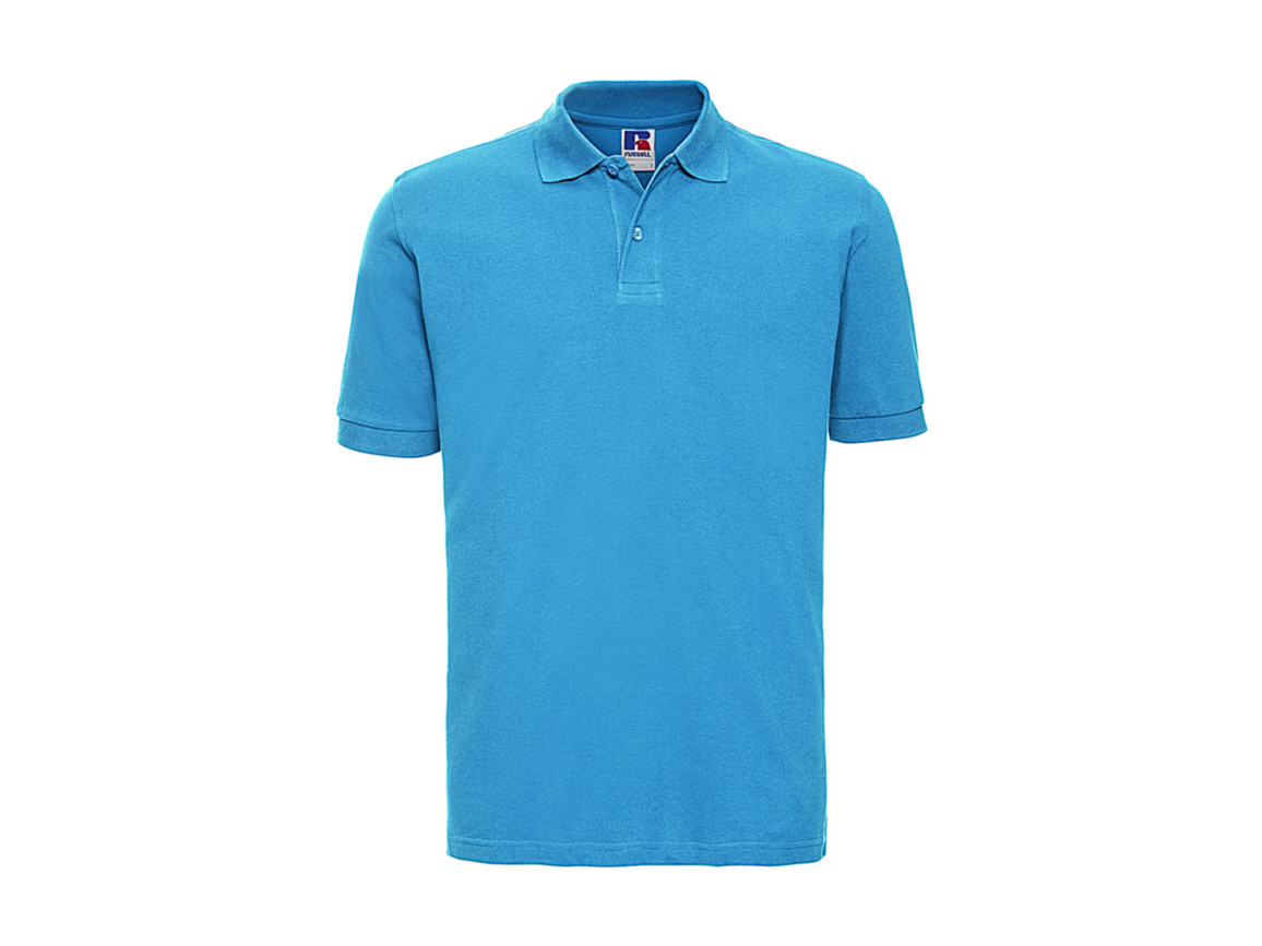 Russell Europe Men`s Classic Cotton Polo, Turquoise, L bedrucken, Art.-Nr. 549005365