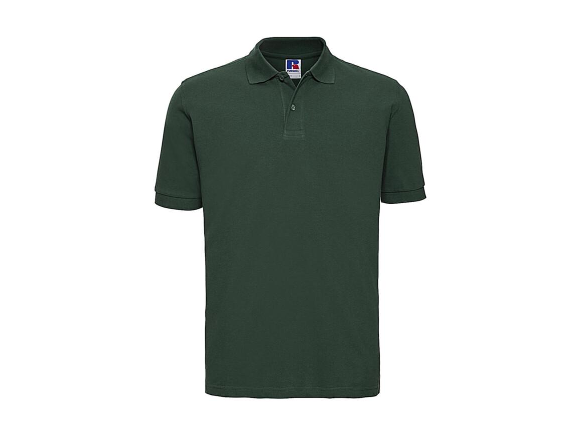 Russell Europe Men`s Classic Cotton Polo, Bottle Green, M bedrucken, Art.-Nr. 549005404