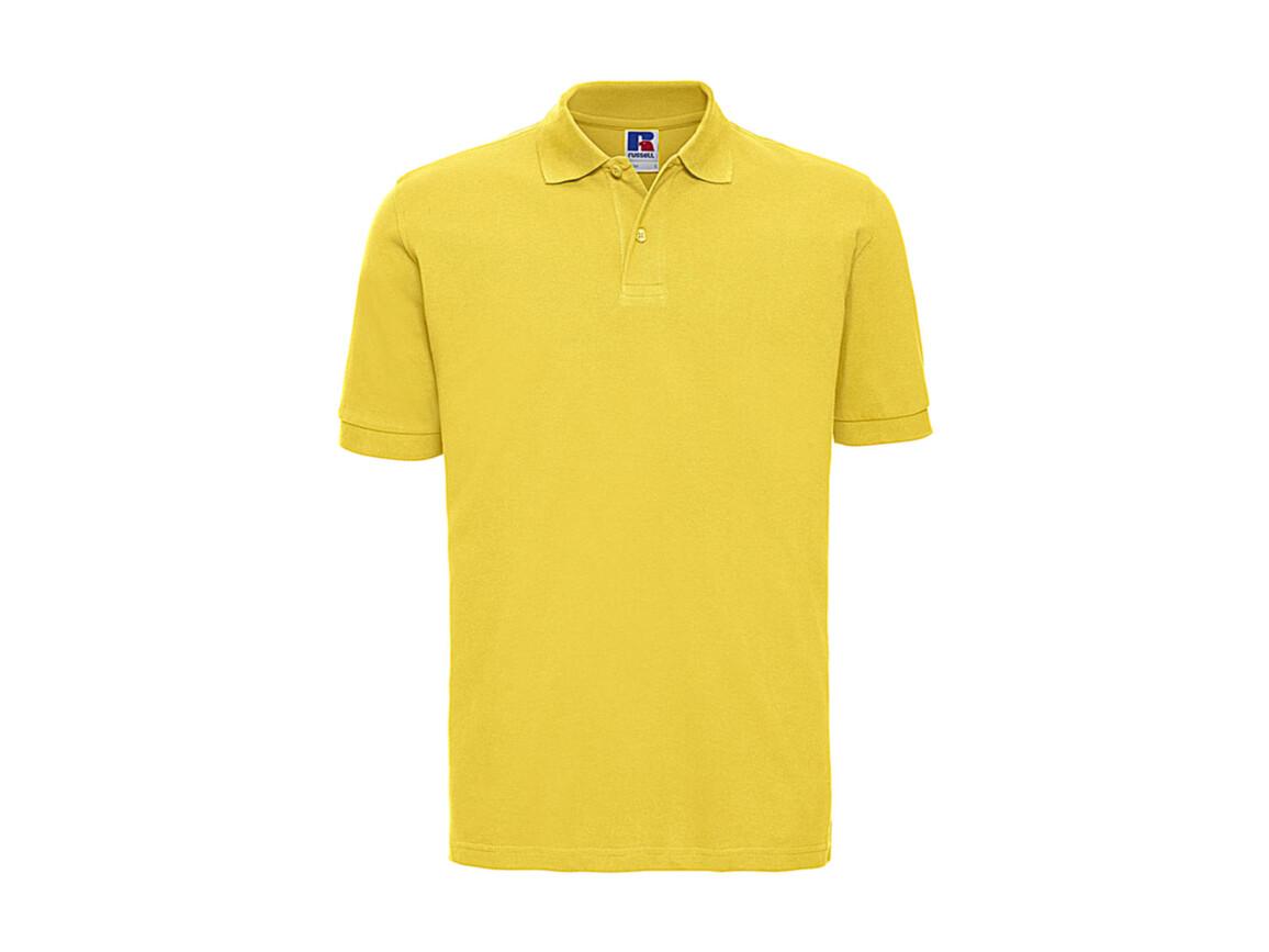 Russell Europe Men`s Classic Cotton Polo, Yellow, XL bedrucken, Art.-Nr. 549006006
