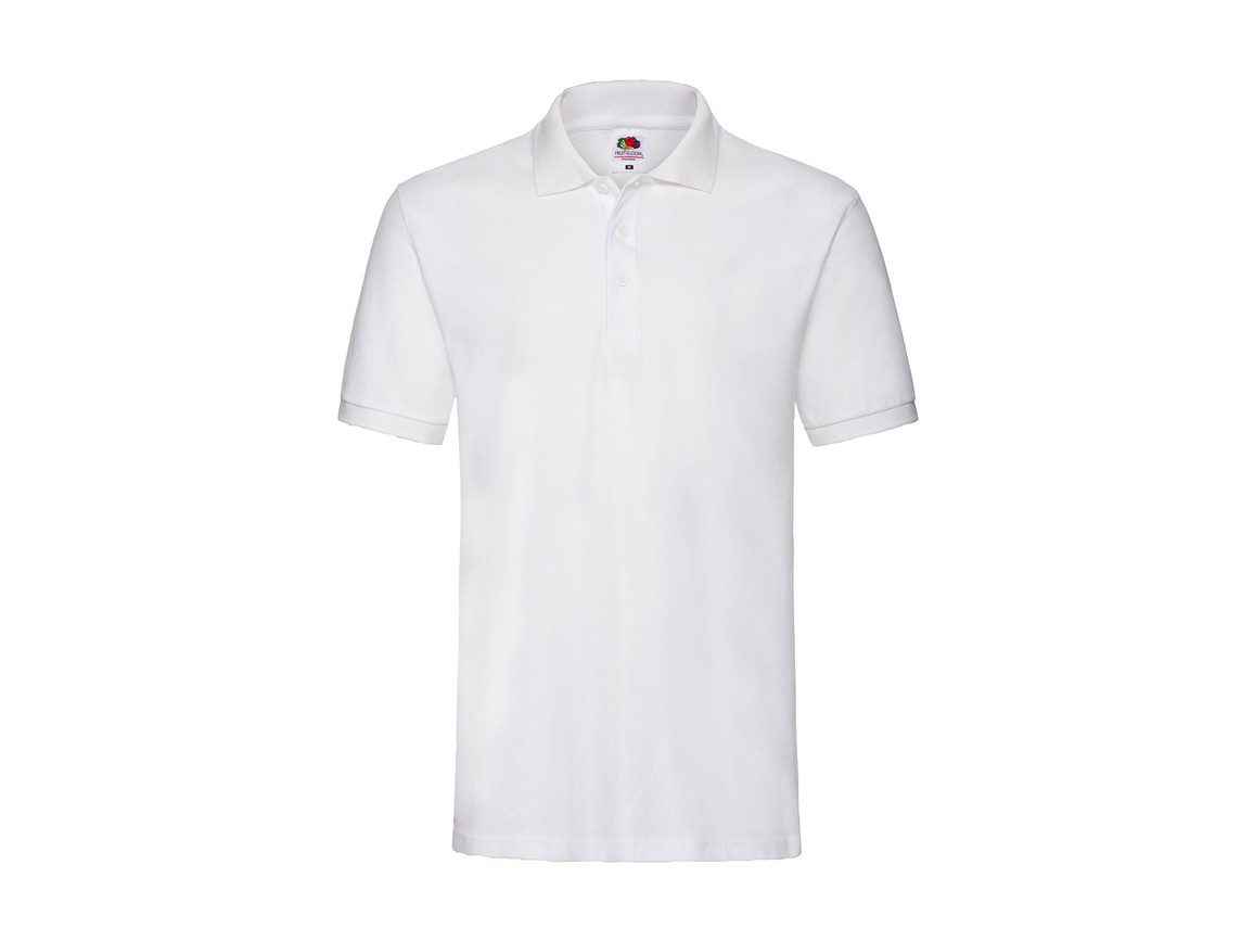 Fruit of the Loom Premium Polo, White, XL bedrucken, Art.-Nr. 551010006