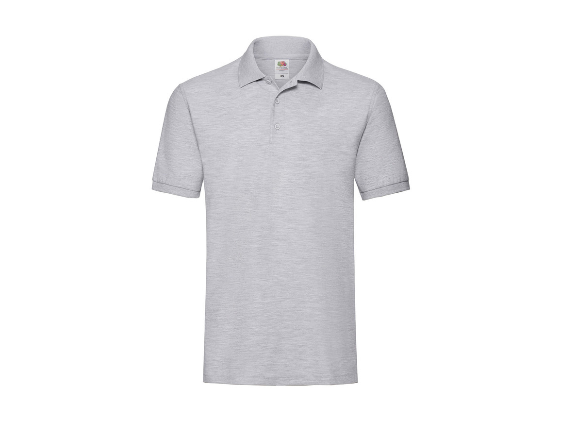 Fruit of the Loom Premium Polo, Heather Grey, S bedrucken, Art.-Nr. 551011233