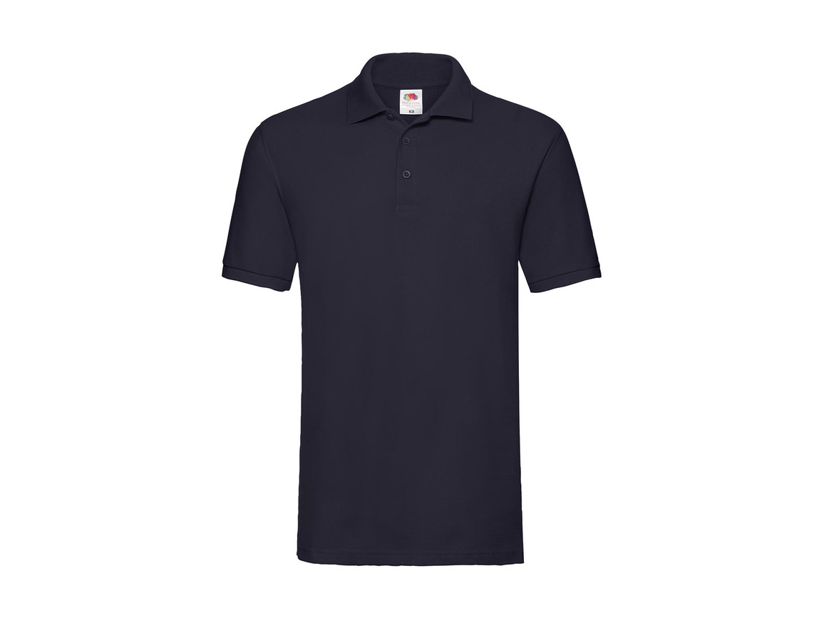 Fruit of the Loom Premium Polo, Deep Navy, L bedrucken, Art.-Nr. 551012025