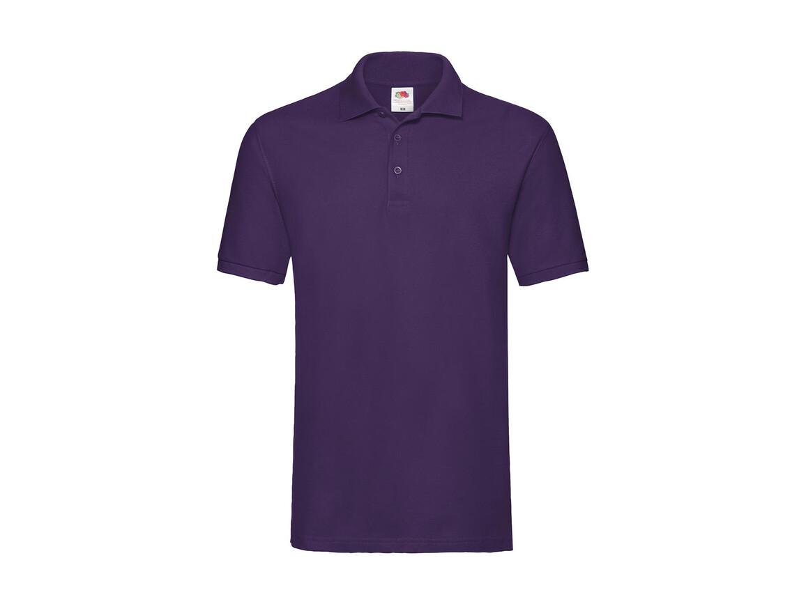 Fruit of the Loom Premium Polo, Purple, 2XL bedrucken, Art.-Nr. 551013497