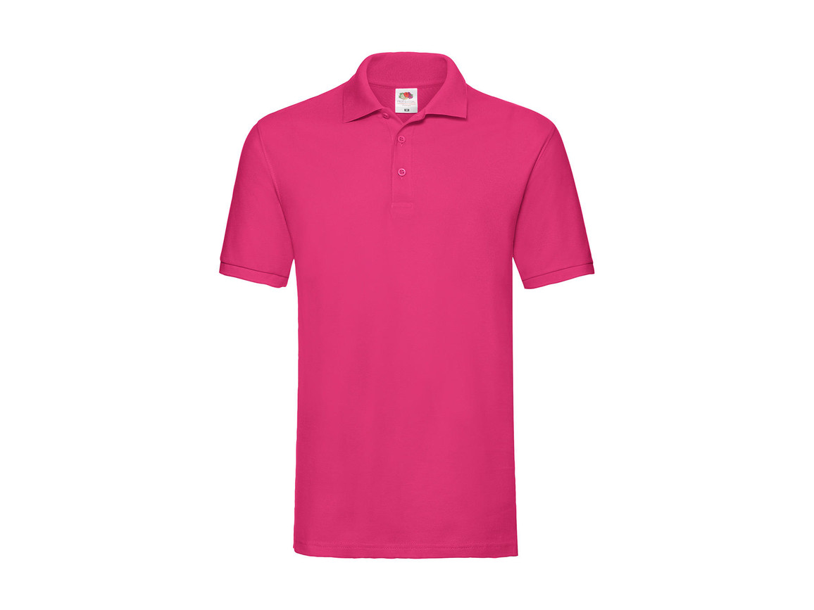 Fruit of the Loom Premium Polo, Fuchsia, M bedrucken, Art.-Nr. 551014394