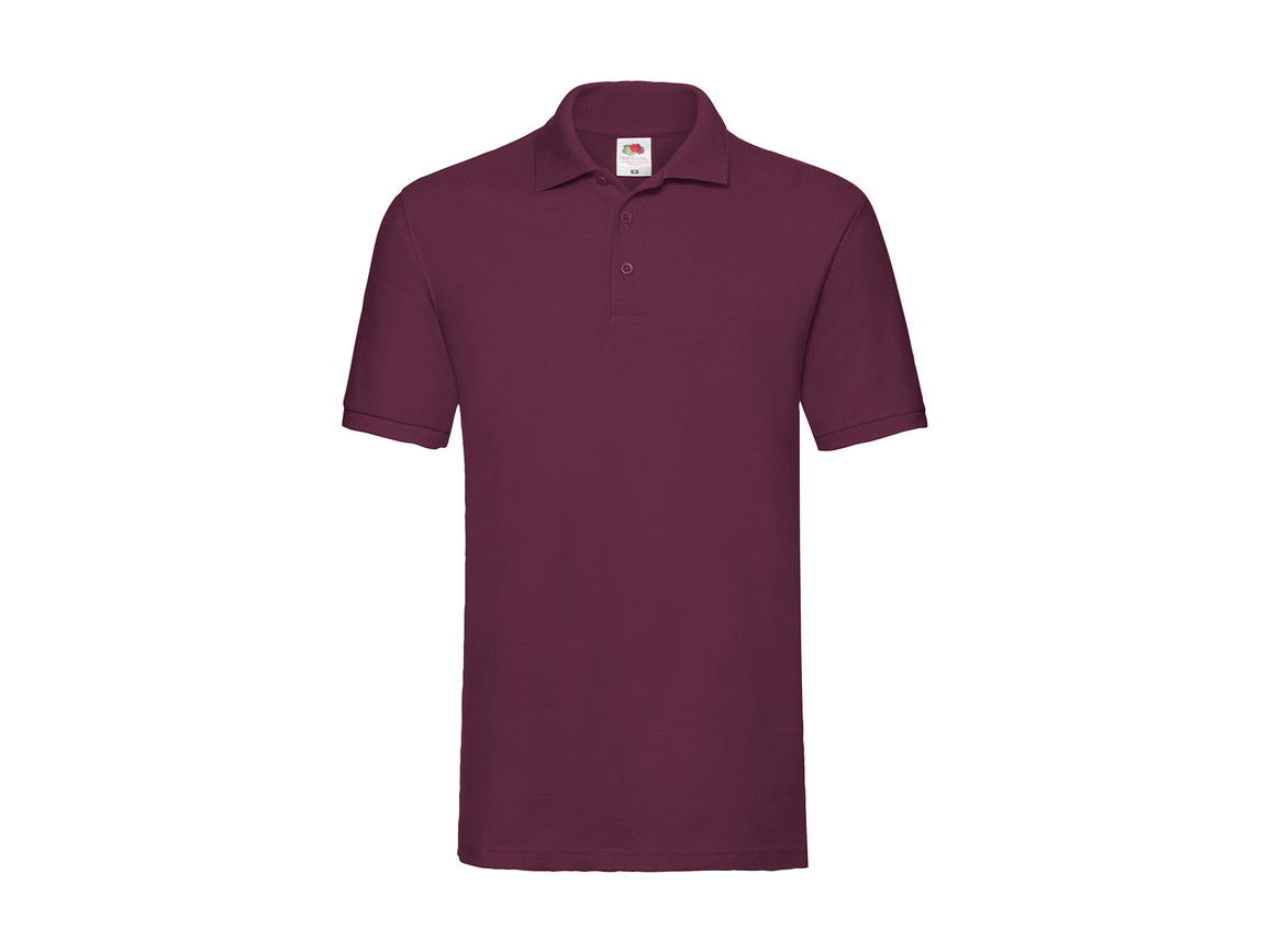 Fruit of the Loom Premium Polo, Burgundy, XL bedrucken, Art.-Nr. 551014486