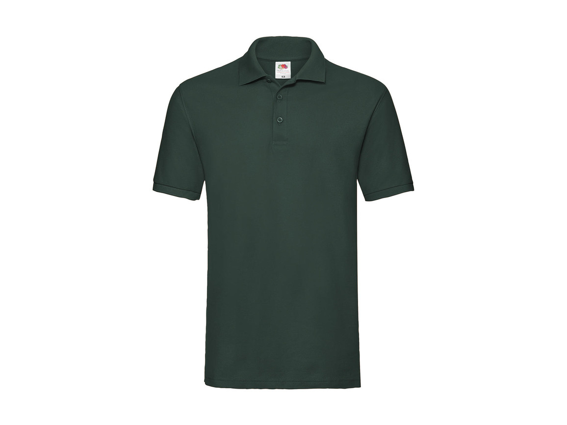 Fruit of the Loom Premium Polo, Forest Green, M bedrucken, Art.-Nr. 551015414